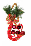 Όμορφη διακόσμηση Χριστουγέννων καλάμων καραμελών Στοκ φωτογραφίες με δικαίωμα ελεύθερης χρήσης