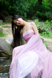 όμορφη ιαπωνική γυναίκα Στοκ Φωτογραφίες