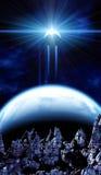 Όμορφη διαστημική σκηνή Στοκ εικόνα με δικαίωμα ελεύθερης χρήσης