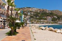Όμορφη ισπανική πόλη της Ισπανίας Javea που βρίσκεται κοντά σε Denia γνωστό επίσης ως Xabia στοκ φωτογραφία με δικαίωμα ελεύθερης χρήσης