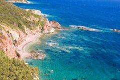 Όμορφη ιταλική παραλία Στοκ Εικόνες