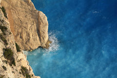 όμορφη ιόνια θάλασσα Ζάκυνθος της Ελλάδας Στοκ Εικόνες