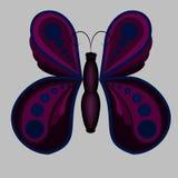 Όμορφη ιώδης πεταλούδα ελεύθερη απεικόνιση δικαιώματος
