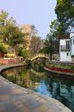 Όμορφη κάθετη άποψη του San Antonio Riverwalk Στοκ Εικόνες