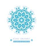 Όμορφη κάρτα διακοσμήσεων με το mandala διανυσματική απεικόνιση