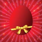 Κόκκινο αυγό ελεύθερη απεικόνιση δικαιώματος