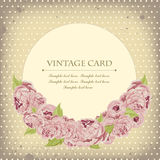 Όμορφη κάρτα με τα peonies Στοκ εικόνα με δικαίωμα ελεύθερης χρήσης
