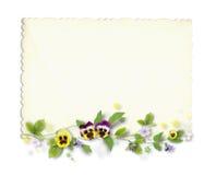όμορφη κάρτα παλαιά στοκ εικόνες με δικαίωμα ελεύθερης χρήσης