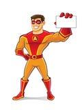 Όμορφη κάρτα Superhero ελεύθερη απεικόνιση δικαιώματος