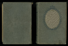 Όμορφη κάλυψη ενός εκλεκτής ποιότητας βιβλίου με το βασιλικό floral πλαίσιο μια κενή ετικέτα για το κείμενο και το πορτρέτο σας Στοκ Φωτογραφία