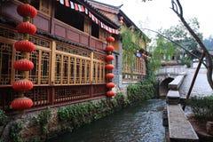 όμορφη Κίνα lijiang μικρού χωριού Στοκ Φωτογραφία