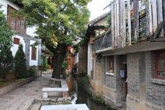 όμορφη Κίνα lijiang μικρού χωριού Στοκ Εικόνες