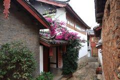 όμορφη Κίνα lijiang μικρού χωριού Στοκ Εικόνα
