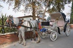 όμορφη και νοσταλγική horse-drawn μεταφορά Στοκ εικόνα με δικαίωμα ελεύθερης χρήσης