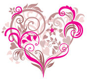 όμορφη καρδιά ανασκόπησης ελεύθερη απεικόνιση δικαιώματος