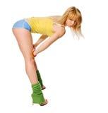 Όμορφη κατάλληλη stripper άσκηση στοκ εικόνα