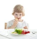 Όμορφη κατανάλωση κοριτσακιών Στοκ φωτογραφία με δικαίωμα ελεύθερης χρήσης