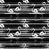 όμορφη κενή θερινή πετοσφαίριση παραλιών σφαιρών ανασκόπησης Άνευ ραφής σχέδιο Watercolor Χρωματισμένο χέρι τροπικό θερινό μοτίβο Στοκ Φωτογραφία