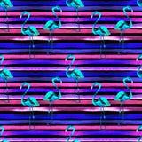όμορφη κενή θερινή πετοσφαίριση παραλιών σφαιρών ανασκόπησης Άνευ ραφής σχέδιο Watercolor Χρωματισμένο χέρι τροπικό θερινό μοτίβο Στοκ Εικόνες