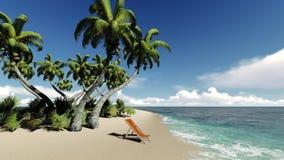 όμορφη κενή θερινή πετοσφαίριση παραλιών σφαιρών ανασκόπησης νησί τροπικό Ωκεάνιο τοπίο παραδείσου ελεύθερη απεικόνιση δικαιώματος