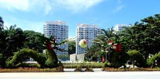 Όμορφη κινεζική πόλη στο νησί στοκ εικόνες
