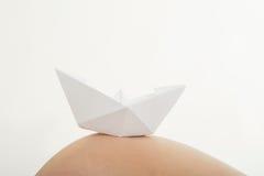 όμορφη κοιλιά έγκυος Στοκ εικόνες με δικαίωμα ελεύθερης χρήσης