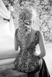 όμορφη κομψή γυναίκα hairstyle Κυρία μόδας ομορφιάς με Στοκ εικόνα με δικαίωμα ελεύθερης χρήσης
