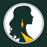 Όμορφη κομψή σκιαγραφία γυναικών Στοκ φωτογραφίες με δικαίωμα ελεύθερης χρήσης