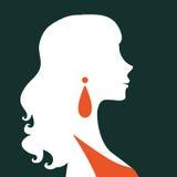 Όμορφη κομψή σκιαγραφία γυναικών Στοκ Φωτογραφία