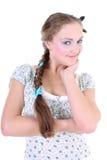 όμορφη κοτσίδα κοριτσιών sundr Στοκ Εικόνες