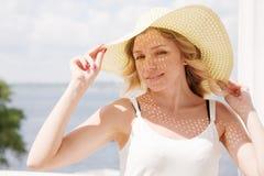 όμορφη κυρία καπέλων Στοκ Εικόνα