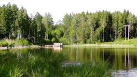 Όμορφη λίμνη σε ένα υπόβαθρο Στοκ εικόνα με δικαίωμα ελεύθερης χρήσης