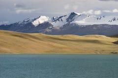Όμορφη λίμνη στην περιοχή Tsomoriri, Leh, Ladakh, Ινδία Στοκ Φωτογραφία