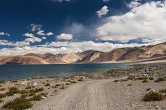 Όμορφη λίμνη Pangong μεγάλου υψομέτρου σε Ladakh Στοκ φωτογραφίες με δικαίωμα ελεύθερης χρήσης