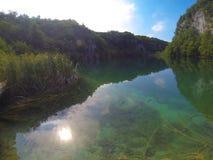 Όμορφη λίμνη Plitvice στην Κροατία Στοκ εικόνα με δικαίωμα ελεύθερης χρήσης