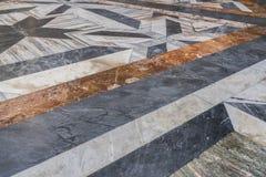 Όμορφη λεπτομέρεια από το μαρμάρινο πάτωμα του degli Angeli ε της Σάντα Μαρία Στοκ εικόνα με δικαίωμα ελεύθερης χρήσης