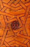 Όμορφη λεπτομέρεια της ξύλινης γλυπτικής arabesque Στοκ Εικόνα