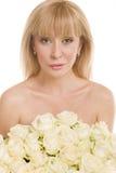 όμορφη λευκή γυναίκα λο&upsi Στοκ φωτογραφία με δικαίωμα ελεύθερης χρήσης