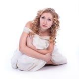 όμορφη λευκή γυναίκα φορεμάτων Στοκ εικόνες με δικαίωμα ελεύθερης χρήσης