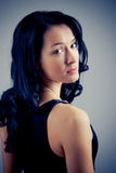 όμορφη λυπημένη γυναίκα πο&rh Στοκ Εικόνα