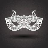 Όμορφη μάσκα μεταμφιέσεων (διάνυσμα) Στοκ εικόνα με δικαίωμα ελεύθερης χρήσης
