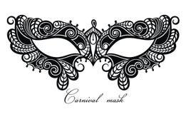 Όμορφη μάσκα του συμβόλου δαντελλών Mardi Gras ελεύθερη απεικόνιση δικαιώματος