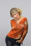 Όμορφη μέση γυναίκα ηλικίας Στοκ Φωτογραφίες