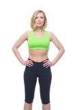 Όμορφη μέση ηλικίας γυναίκα που κάνει την αθλητική άσκηση στοκ εικόνα με δικαίωμα ελεύθερης χρήσης