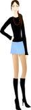 όμορφη μίνι φούστα κοριτσιών Στοκ εικόνα με δικαίωμα ελεύθερης χρήσης