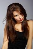 όμορφη μακριά γυναίκα τριχώματος Στοκ Φωτογραφίες