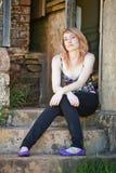 όμορφη μαλλιαρή κόκκινη γυναίκα στοκ εικόνες με δικαίωμα ελεύθερης χρήσης