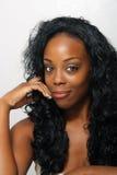 όμορφη μαύρη γυναίκα headshot Στοκ εικόνα με δικαίωμα ελεύθερης χρήσης