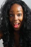 όμορφη μαύρη γυναίκα headshot Στοκ φωτογραφία με δικαίωμα ελεύθερης χρήσης