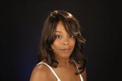 όμορφη μαύρη γυναίκα headshot 9 Στοκ Εικόνες